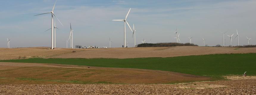 Wind turbines at cresent ridge illinois